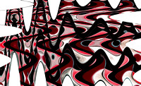 Retro Waves Abstract - Red
