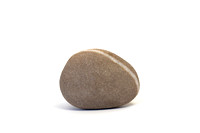 Single Pebble against White Background