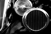 Black and White Vintage Car Abstract 2 - Natalie Kinnear Photography