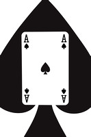 Playing Cards Ace of Spades on White