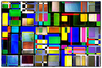 Stained Glass Window II Multi-Colored Abstract