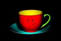 Bashful Colorful Cup and Saucer - Natalie Kinnear Photography - Print and Canvas Wall Art