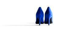 Blue High Heel Shoes - Natalie Kinnear Photography - Print and Canvas Wall Art