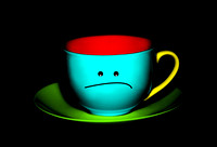 Peeved Colorful Cup and Saucer - Natalie Kinnear Photography - Print and Canvas Wall Art