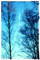 Distant Aeroplane in Blue Sky - Natalie Kinnear Photography - Print and Canvas Wall Art
