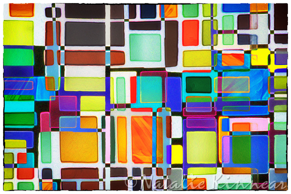 Stained Glass Window Multi-Colored Abstract