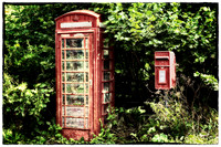 Old Red Telephone Box Old Red Letter Box - Natalie Kinnear Photography - Print and Canvas Wall Art